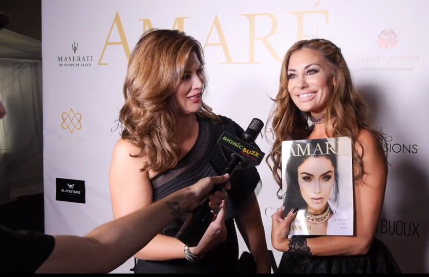 Emily Simpson & Lizzie Rovsek Interview at Amare Magazine Event