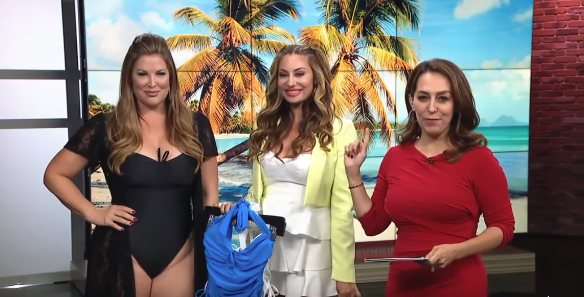 RHOC Housewives Lizzie Rovsek & Emily Simpson on Fox 5 San Diego